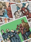 Spider-Man/Fantastic Four No.4 Cover: Spider-Man, Human Torch, Invisible Woman, and Mr. Fantastic Posters by Mario Alberti