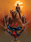 Astonishing Spider-Man & Wolverine No.4 Cover: Spider-Man and Wolverine Poster by Adam Kubert