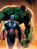 Ultimate Origins No.5 Cover: Captain America and Hulk Photo by Gabriele DellOtto