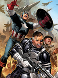 Secret Warriors No.18: Nick Fury, Captain America, Dum Dum Dugan Print by Jim Cheung
