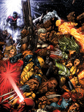 X-Men No.207 Cover: Wolverine and Cable Prints by David Finch