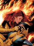 X-Men: Phoenix - End Song No.3 Cover: Phoenix and Wolverine Affiches par Greg Land