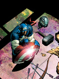 Avengers No.503 Cover: Captain America and Mjolnir Prints by David Finch