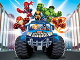 Marvel Super Hero Squad: Spider-Man, Wolverine, Hulk, Iron Man, Captain America, and Human Torch Photo
