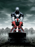 Captain America No.4 Cover: Captain America Print by Steve Epting