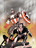 Wolverine Captain America No.1 Cover: Wolverine and Captain America Print by Derenick Tom