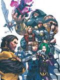 Uncanny X-Men No.437 Cover: Wolverine, Havok, Juggernaut, Nightcrawler, Angel, Northstar and X-Men Photo by Larroca Salvador