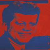 Flash-November 22, 1963, 1968 (red & blue) Art by Andy Warhol