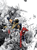 The Amazing Spider-Man No.555 Cover: Spider-Man and Wolverine Prints by Chris Bachalo