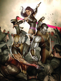 X-Men No.231 Cover: Wolverine, Colossus, Psylocke and Cyclops Prints by Adi Granov