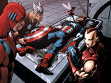 Avengers Finale No.1 Group: Captain America, Giant Man, Iron Man, Thor and Wasp Prints by Adams Neal