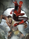 Assault on New Olympus Prologue No.1 Cover: Spider-Man and Hercules Prints by Adi Granov