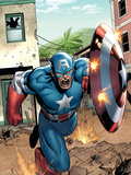 Marvel Adventures Super Heroes No.8 Cover: Captain America Print by Clayton Henry