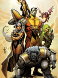 Astonishing X-Men No.38 Cover: Storm, Beast, Colossus, Kitty Pryde, Lockheed, & Agent Abigail Brand Photo by Larroca Salvador