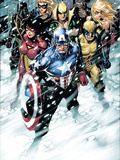 Free Comic Book Day 2009 Avengers No.1 Group: Captain America Print by Cheung Jim