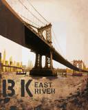 East River & Manhattan Bridge Prints by Mauro Baiocco