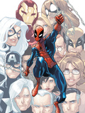 The Amazing Spider-Man No.648 Cover: Spider-Man Swinging Posters by Humberto Ramos