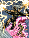Uncanny X-Men: First Class No.6 Cover: Storm and Phoenix Prints by Paul Pelletier