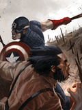 Wolverine: Origins No.20 Cover: Wolverine and Captain America Posters
