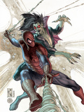 The Amazing Spider-Man No.622 Cover: Spider-Man and Morbius Prints by Simone Bianchi