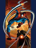 Ultimate Spider-Man No.57 Cover: Spider-Man and Doctor Octopus Poster by Bagley Mark