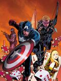 Secret Avengers No.21.1 Cover: Captain America and Hawkeye Running Posters by Zircher Patrick