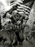 Captain America: Man out of Time No.1: Captain America Charging Prints by Jorge Molina