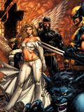 Uncanny X-Men No.494 Cover: Beast, Emma Frost, Cyclops and Wolverine Print by David Finch