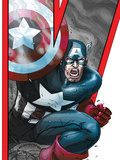 Avengers: Earths Mightiest Heroes No.2 Cover: Captain America Prints by Scott Kolins