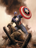 Captain America Theater Of War: America The Beautiful No.1 Cover: Captain America Prints by Steve Epting
