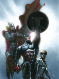 Secret Invasion No.8 Cover: Captain America, Wolverine and Thor Poster by DellOtto Gabriele