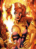 X-Men Forever 2 No.16 Cover: A Flaming Phoenix Print by Grummett Tom