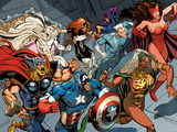 X-Men Forever 2 No.15: Storm ,Scarlet Witch, Quicksilver, Captain America, Thor, Vision, and Others Photo by Smith Andy
