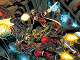 Guardians Of The Galaxy No.1 Group: Rocket Raccoon, Star-Lord and Quasar Posters by Paul Pelletier
