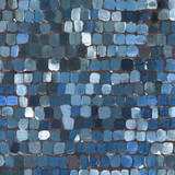Cobalt Cobbles Print by Stacey Wolf