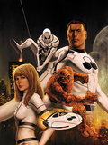FF No.1 Cover: Invisible Woman, Thing, Mr. Fantastic, and Spider-Man Print by Steve Epting