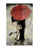 The Red Umbrella Prints by Loui Jover