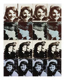 Sixteen Jackies, 1964 Posters by Andy Warhol