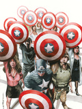 Captain America: The Chosen No.6 Cover: Captain America Print by Mitchell Breitweiser