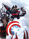 Guardians Of The Galaxy No.2 Cover: Rocket Raccoon and Groot Posters by Pelletier Paul