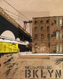 Williamsburg, Brooklyn Affiche par Mauro Baiocco