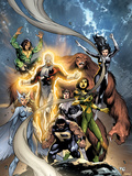 Alpha Flight No.6 Cover: Puck, Snowbird, Northstar, Aurora, Guardian, Sasquatch, Shaman and Marina Photo by Grummett Tom