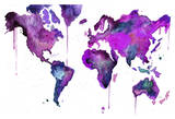 Watercolor Map No. 8 Print by Jessica Durrant