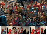 Ultimate Spider-Man No.153: Panels with Spider-Man and Iron Man Posters by Sara Pichelli