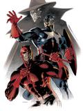 Daredevil & Captain America: Dead On Arrival Cover: Captain America and Daredevil Posters by Claudio Villa