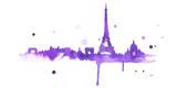 A Purple Paris Posters by Jessica Durrant