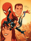 The Sensational Spider-Man Annual No.1 Cover: Spider-Man, Peter Parker, and Mary Jane Watson Posters by Larroca Salvador