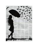 Butterfly Rain Giclee Print by Loui Jover