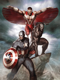 Captain America: Hail Hydra No.3 Cover: Captain America, Black Panther, and Falcon Posters by Adi Granov