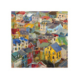 Reykjavik Rooftops Giclee Print by Amy Dixon